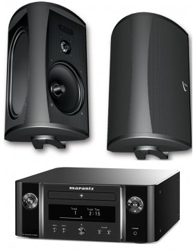 Marantz MCR612 + Definitive Technology AW5500 Conjunto Estéreo