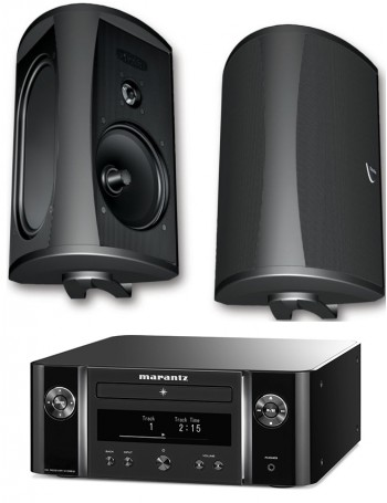 Marantz MCR612 + Definitive Technology AW5500 Conjunto Estéreo