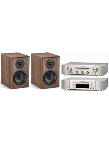 Marantz PM5005 + CD5005 + Wharfedale Denton 80th Conjunto Estéreo