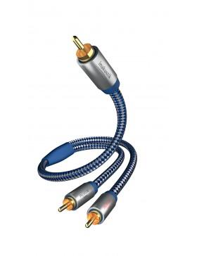 Inakustik Premium Y-Sub Cable Subwoofer RCA  2RCA